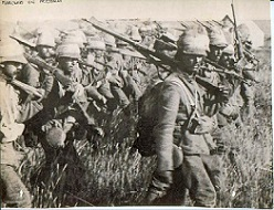 marching to pretoria - soldiers